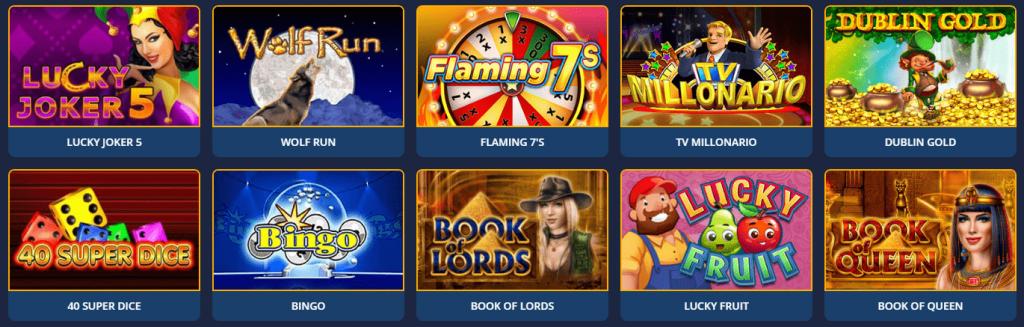 Игры в Casino 7